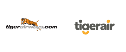 Tiger Airways new logo tigerair